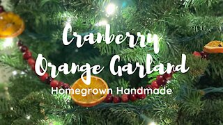 DIY Cranberry Orange Garland