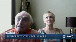 Teen creates tech for seniors