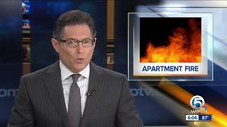 Apartment fire in West Palm Beach
