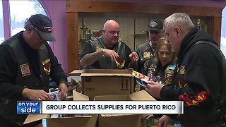Latin American motorcycle group in Lorain collects donations for Hurricane Maria victims in Puerto Rico