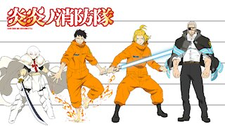 Fire Force   Characters Height Comparison