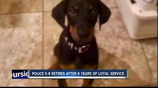 Police K-9 retires after 9 years of loyal service