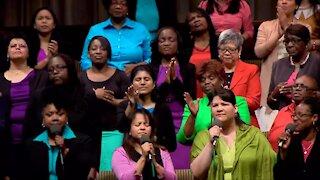 """REJOICE"" sung by the Times Square Church Choir"