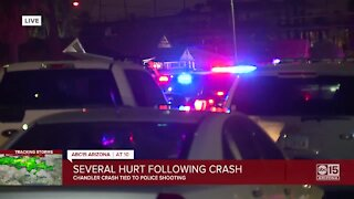 3 badly hurt in 6-car crash tied to police shooting in Chandler