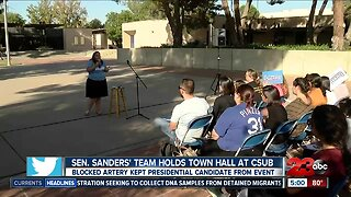 Bernie Sanders campaign event kicks off at Cal State Bakersfield without Bernie