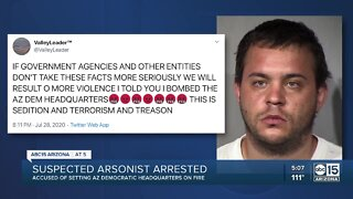 Suspected arsonist arrested