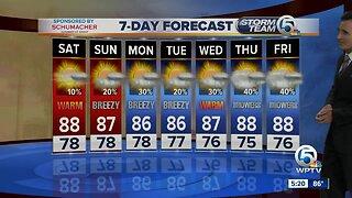 Latest Weather Forecast 5 p.m. Friday