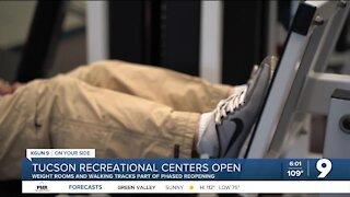 Tucson Recreation Centers open weight rooms and walking tracks