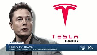 Tesla chooses Austin over Tulsa for new assembly plant