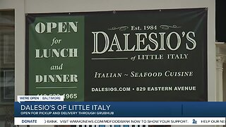 Dalesio's of Little Italy, open for pickup and delivery through GrubHub