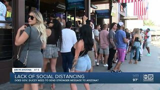 Lack of social distancing amid reopenings