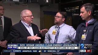 Governor Hogan unveils clean energy legislation