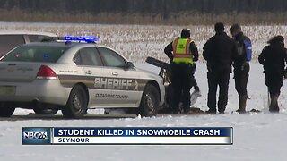 Student killed in snowmobile crash; neighbor reaction