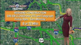List: Metro Detroit weekend construction includes I-94, I-696 closures