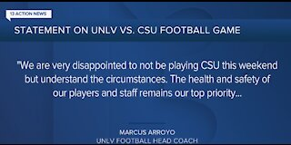 UNLV football game against Colorado State is off due to COVID-19, Rebels cannot travel