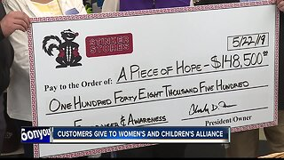 Stinker stores customers give to Women's and Children's Alliance
