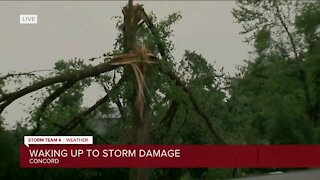 Extensive storm damage in Concord WI