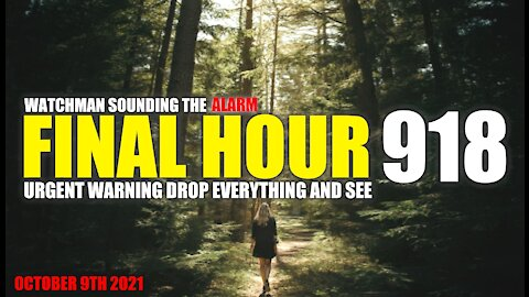 FINAL HOUR 918 - URGENT WARNING DROP EVERYTHING AND SEE - WATCHMAN SOUNDING THE ALARM