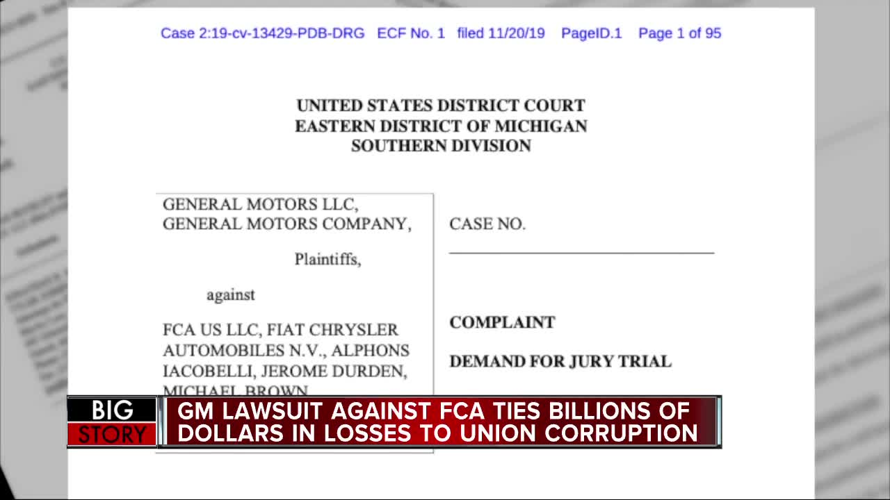 General Motors sues FCA claiming corrupt bargaining with the UAW