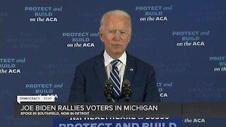 Joe Biden speaks in Southfield & Detroit