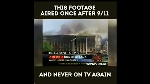 This footage aired once after 9/11 and never on TV again