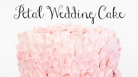 Pretty petal wedding cake