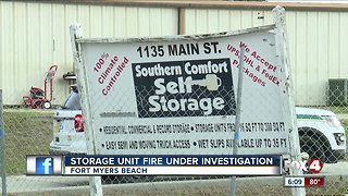 A storage unit caught fire on Fort Myers Beach, put out quickly
