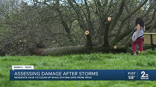 Storm leaves quick and widespread damage