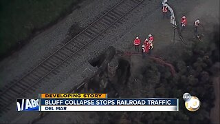 Travel nightmare for train passengers after Del Mar bluff collapse