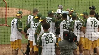 Team Offense rides offensive outburst to Green and Gold Charity Softball Game win
