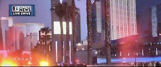 Police respond to reports of shooting near the Las Vegas Strip