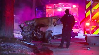 Euclid police chase ends in fiery crash