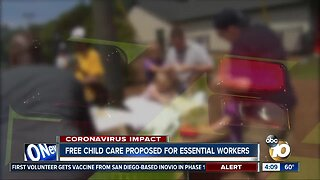 Free child care proposed for essential workers