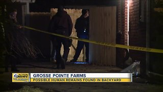 Possible human remains found in backyard in Grosse Pointe Woods