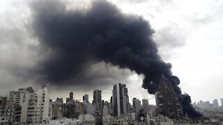 Fire At Beirut Blast Site Scares Residents, Fuels Anti-Government Fury