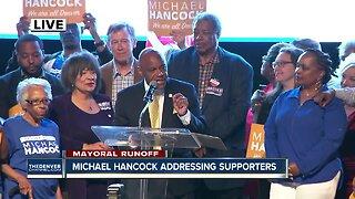 Denver mayoral runoff election - Michael Hancock declares victory