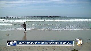 Beach Hazard Warning Expires in San Diego County