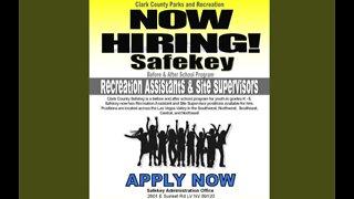 Safekey program hiring before school
