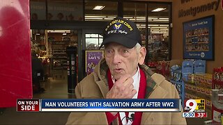 Man volunteers with Salvation Army after WWII