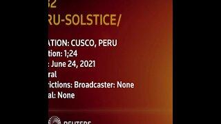 Incan ceremony marks winter solstice