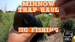 S1:E11 Minnow Trapping & Jig Fishing 101 | Kids Outdoors