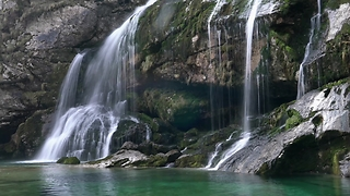 Compilation of Slovenia's stunning waterfalls in 4K