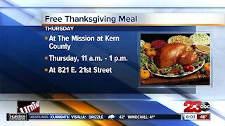Free Thanksgiving meals at The Mission at Kern County