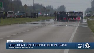 Four killed, on injured in crash on Beeline Highway in Palm Beach County