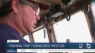 Charter boat rescues man