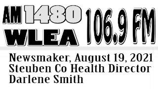 Wlea Newsmaker, August 19, 2021, Steuben Co Public Health Director Darlene Smith