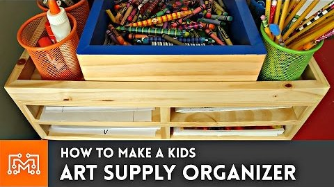 How to make an art supply organizer // Woodworking