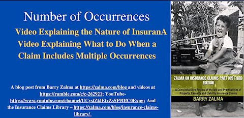 A Video Explaining What to Do When a Claim Includes Multiple Occurrences