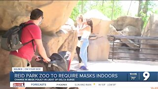 Reid Park Zoo requiring masks while indoors, feeding giraffes