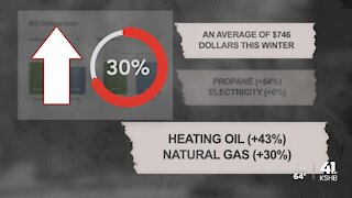 Heating bills could jump as much as 54% this winter due to higher prices of energy